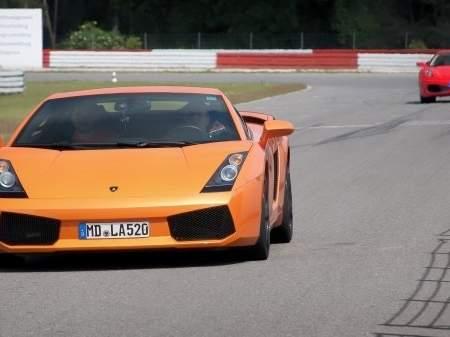 Lamborghini-fahren-Rennstrecke